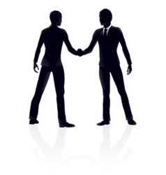 business people handshake vector image vector image