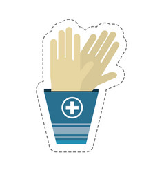 Cartoon gloves sterile surgery vector