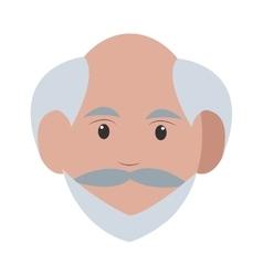 Caucasian senior man icon vector