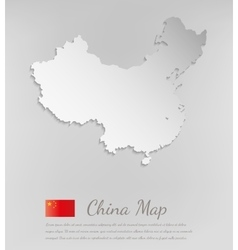 China map white card paper 3d vector