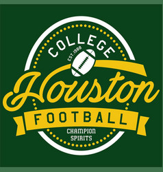 College houston vector