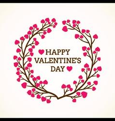 creative happy valentine day greeting design vector image vector image