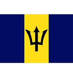 Flags of barbados vector