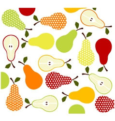 fruitspears background vector image