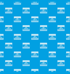 happy columbus day pattern seamless blue vector image