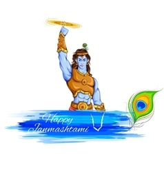 Happy janmashtami vector