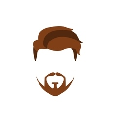 Hipster male hair and facial style with extended vector