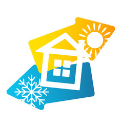house air conditioning and ventilation vector image vector image