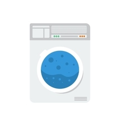 Laundry machine isolated vector