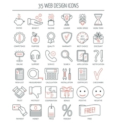 Linear web design icons modern line icons for vector