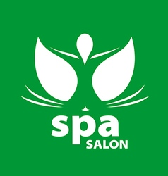 logo for Spa salon on a green background vector image vector image