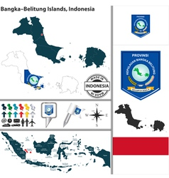 Map of BangkaBelitung Islands vector image vector image