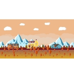 Mountain landscape with house vector image vector image