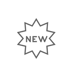 New tag line icon vector image
