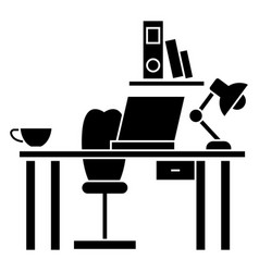 office desk - home desk icon vector image