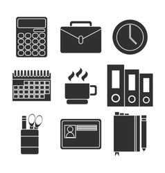 Office equipment icon set vector image