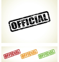 official stamp vector image vector image
