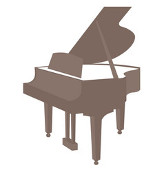 piano icon isolated on white background vector image vector image