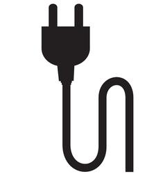 Plug silhouette vector