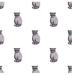 raccoonanimals single icon in cartoon style vector image vector image