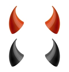 Red and black devil horns vector