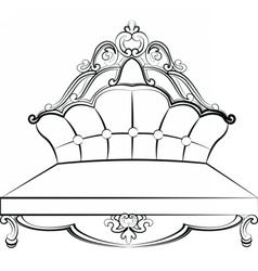 Royal sofa in baroque rococo style vector