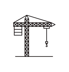 sketch silhouette crane machinery for construction vector image