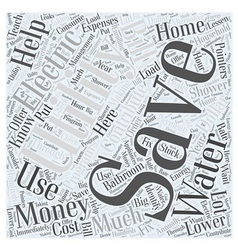 Sm save money on utilities word cloud concept vector