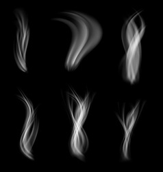 Smoke abstract pattern web set collection vector image