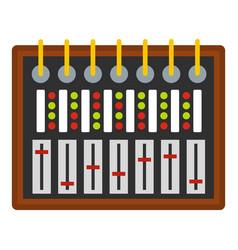 Studio sound mixer icon isolated vector
