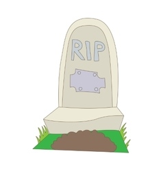 Tombstone with RIP icon cartoon style vector image vector image