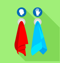 towels icon flat style vector image