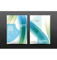 Wave pattern annual report business cover design vector