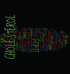 You and your cholesterol text background word vector