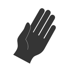Hand fingers palm direction gesture icon vector
