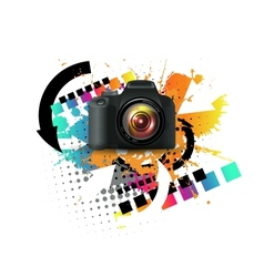 Modern digital camera vector