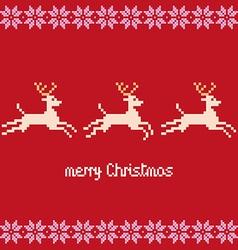 Merry Christmas pixels vector image