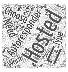 Choosing your autoresponder software word cloud vector
