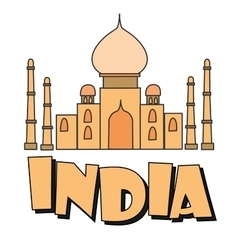 Indian palace india inscription vector