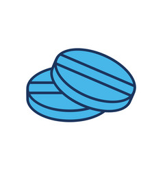 Medical pill icon vector