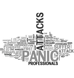 Is what you feel a panic attack text background vector