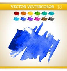 Indigo watercolor artistic splash for design and vector
