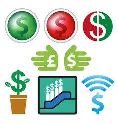 Sign and icon currency business design vector