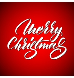 Light abstract merry christmas lettering vector