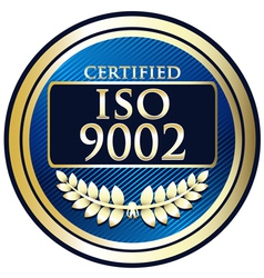 ISO 9002 vector image