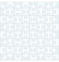 Abstract gray puzzle background template vector