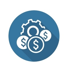 Costs optimization icon flat design vector