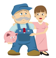 Husband wife savings vector