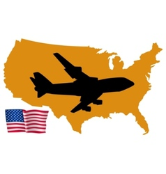 Fly me to the united states vector