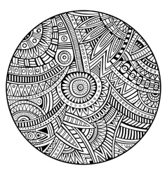 Ethnic circle background vector